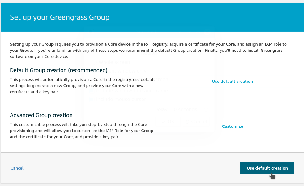 Create a default GG group