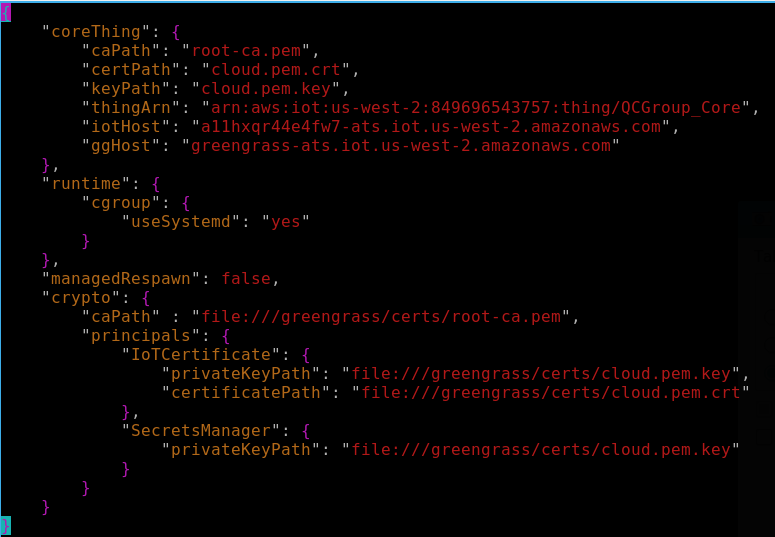 updated config.json