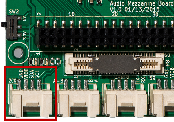 I2C0 port on Audio Mezzanine Board