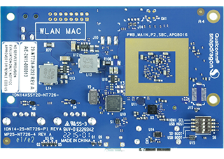 DragonBoard 410c bottom angle highlighting memory and micro SD, as well as I/O interfaces