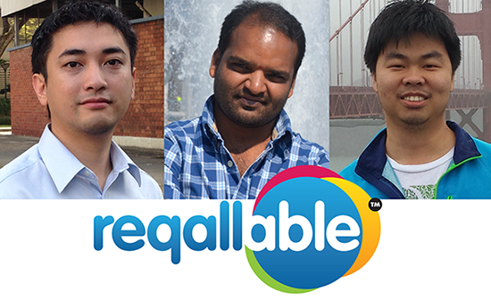 Raghu Ram, Russell Ong, and Pan Ng from reQall are the Qualcomm Developers of the Month and creators of reqallable for the Qualcomm Toq smartwatch.