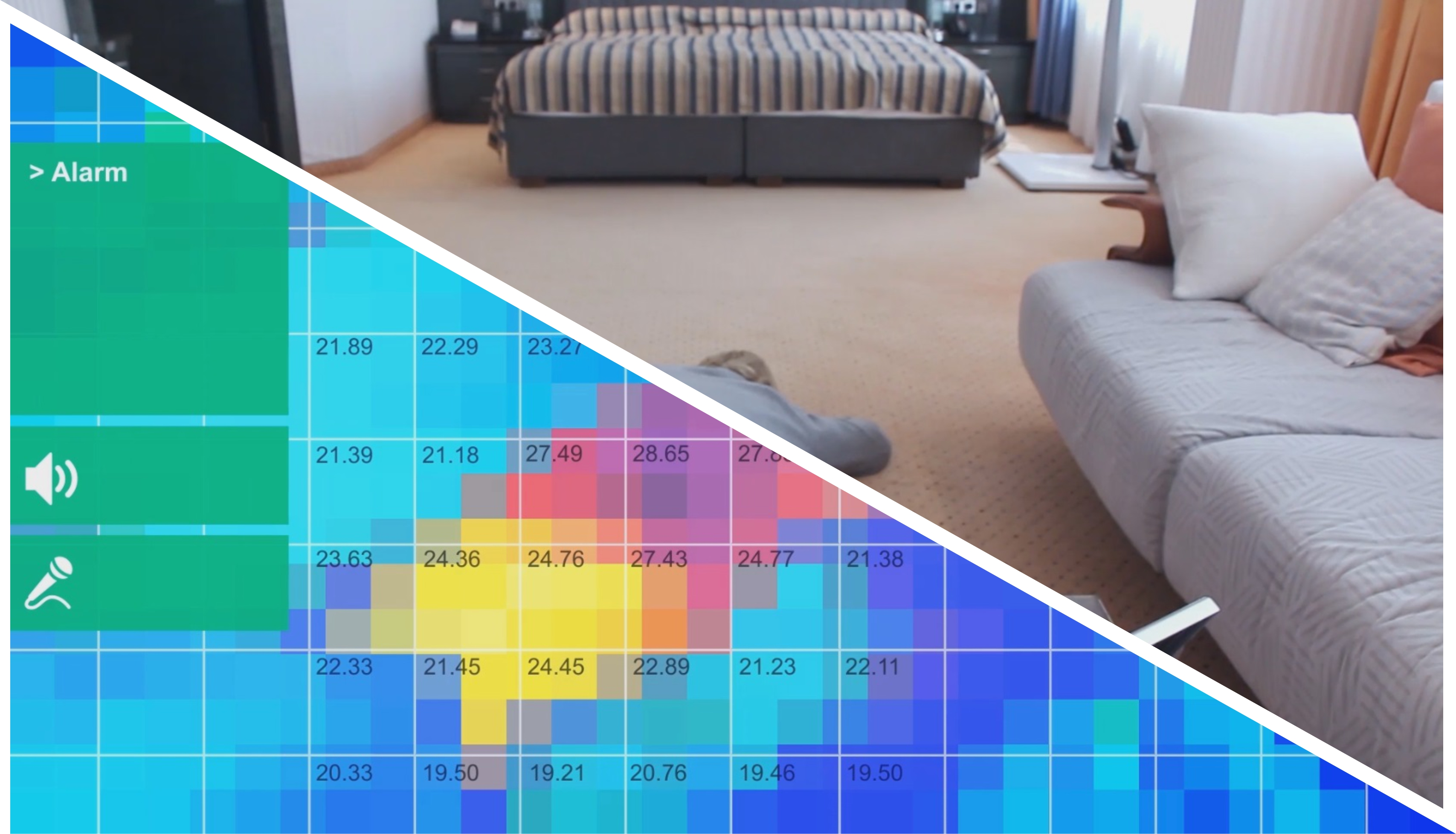 Figure 2 - The Grannyguard analyzes heat maps to detect a fallen user.