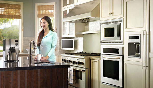 A kitchen that includes Internet of Things products