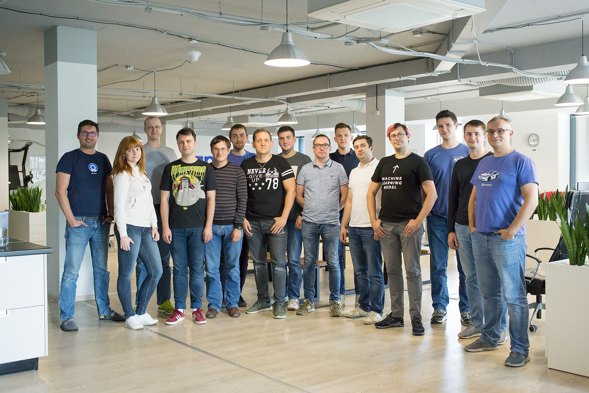 Photo of Mapbox team in Minsk