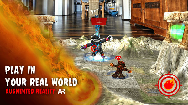 Screenshot of augmented reality game Monsters