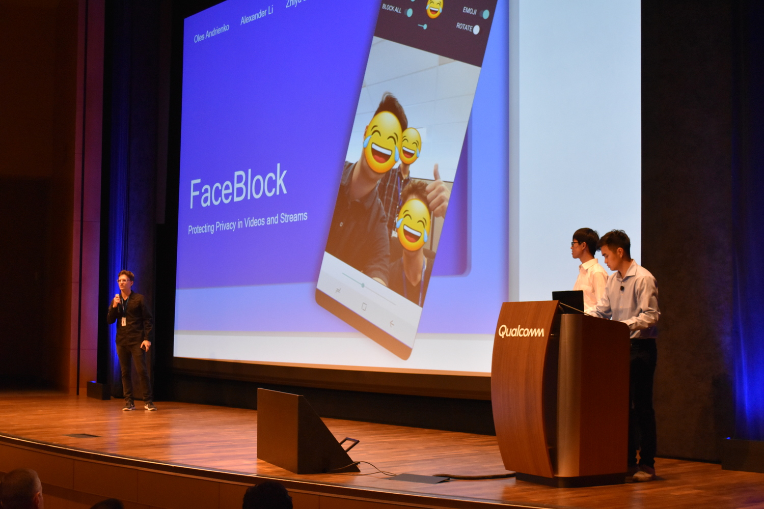 The team presenting FaceBlock