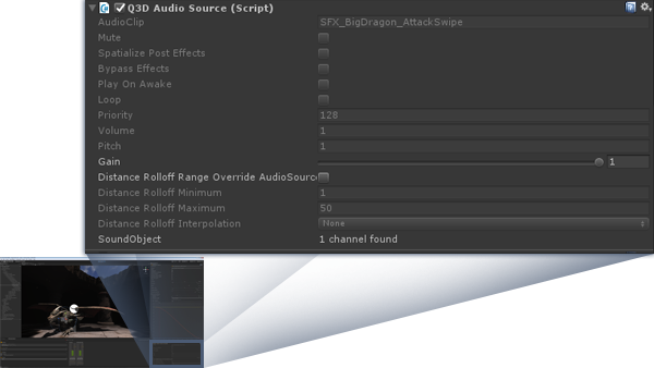 Q3D Audio Source script