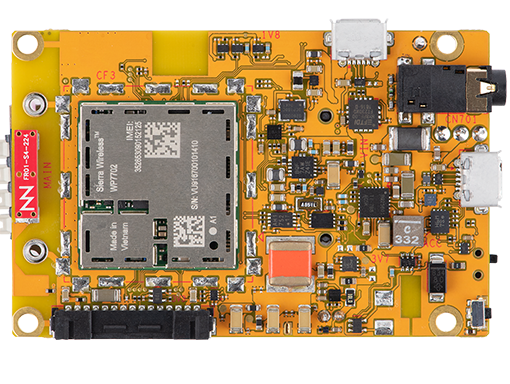 Figure 1 - A top-down view of the mangOH Yellow board.