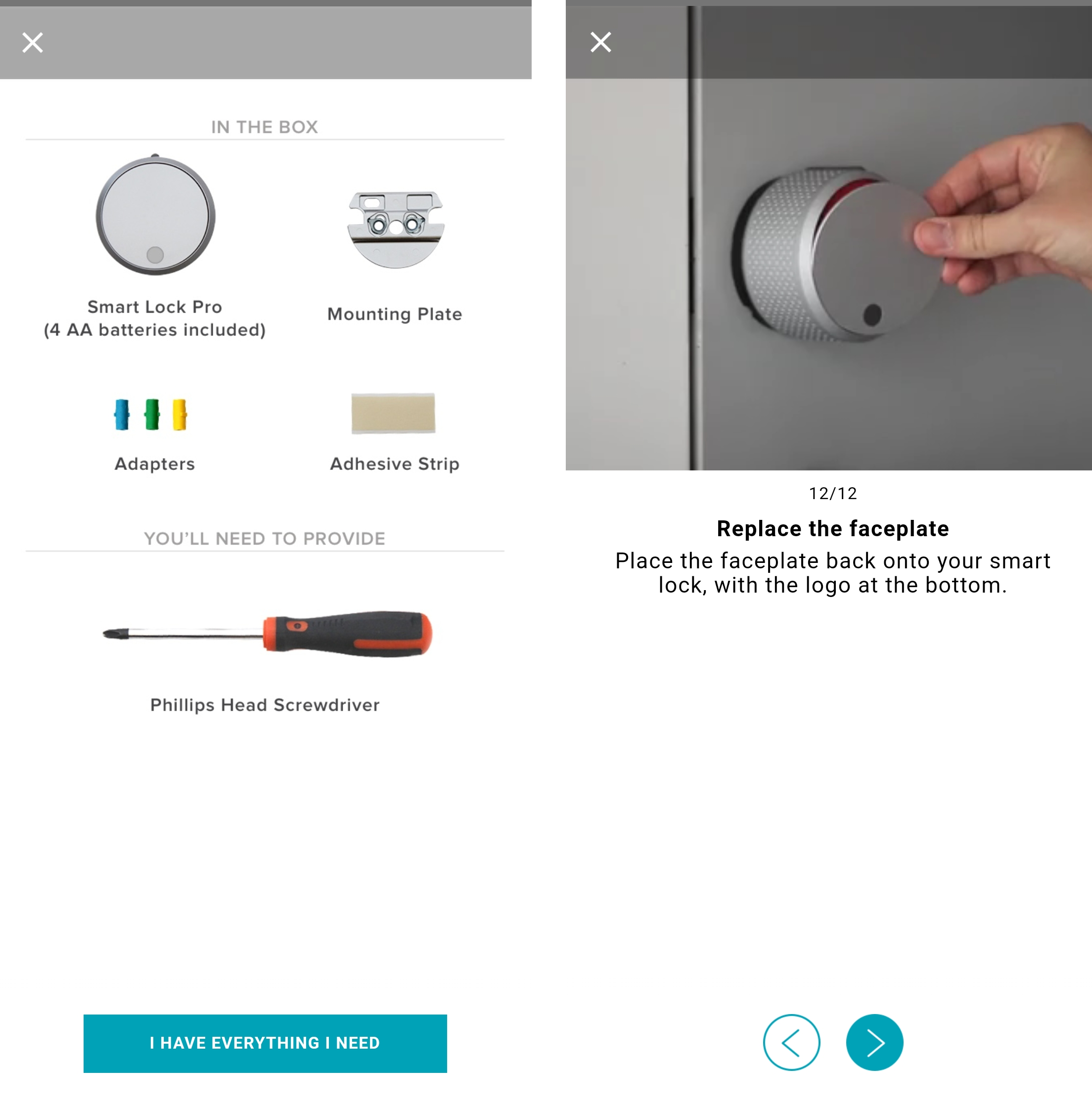 Setting up the August smart lock