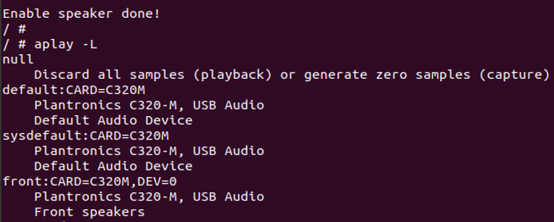 Command to list audio devices