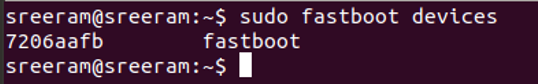 Command to list fastboot devices