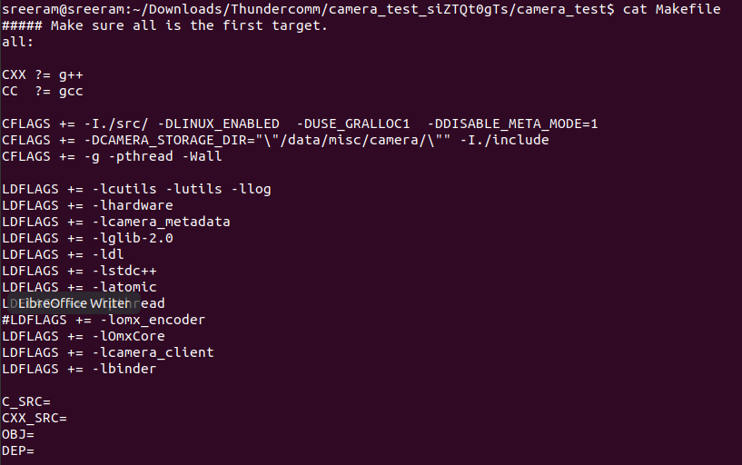 Command to view contents of Make file-1