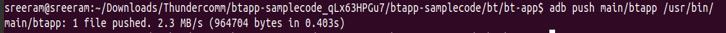 Push Audio btapp binary to RB3