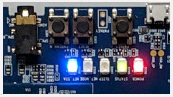 Quectel LTE OPEN EVB LED Status