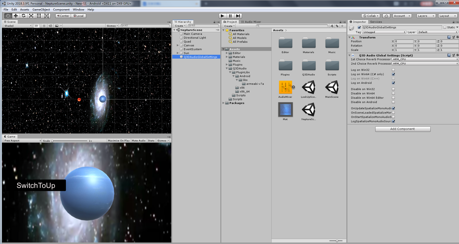 Solar System with 3D Audio Plugin for Unity - Qualcomm Developer Network