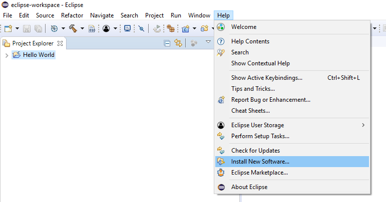 Adding new plugin for the Eclipse IDE