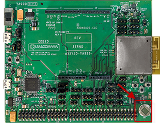 PIR Sensor on the QCA4020 Development Board.